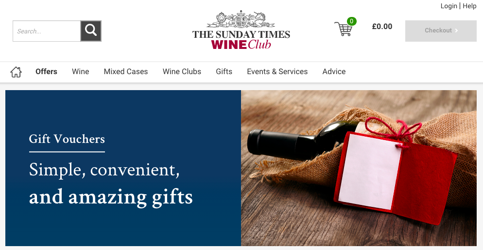 Sunday Times Wine Club Gift Voucher