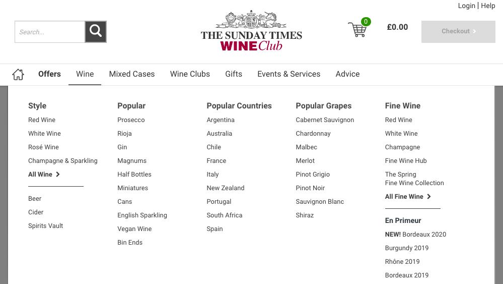 Sunday Times Wine Types